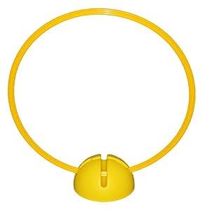 agility sport pour chiens - socle multi-fonctions remplissable avec cerceau Ø 60 cm, couleur: jaune - 1x xsR60y
