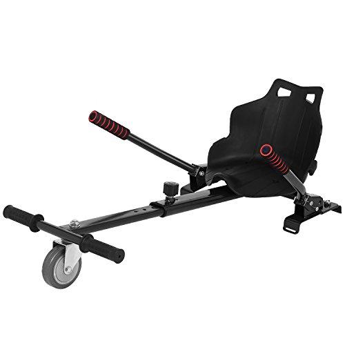 Acecoree Hoverbart Sitz GoKart Einfache Montage  Stabiler Rahmen Balancing Elektroroller Classic Kinderfahrzeug Dreirad Sitz Spielzeug,für Sitzscooter 6,5, 8, 10 Zoll (Schwarz)