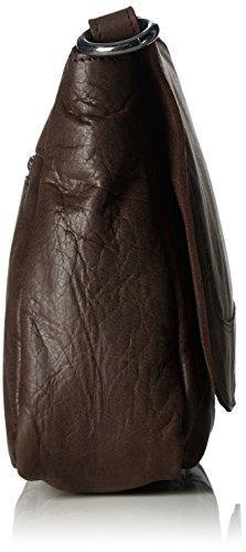 Sansibar Damen Umhängetaschen, 26x22x8 cm Braun (Dark Brown)