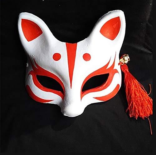 ox Fox-Maske, handgemalte Gesichtsmaske, Bühnenmaske für Erwachsene (Farbe : B) ()