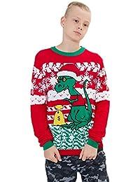 Loveternal Jersey Navidad Niño Ugly Christmas Sweater Punto Familia Xmas Jumper 6-17 Años
