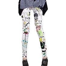 Graffiti completo impresión Yoga deportes Capris leggins pantalones mujer