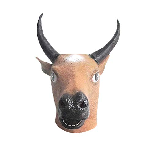 Creepy Horse Lion Octopus Hippo Rubber Animal Mask Latex Party Panda Animal Maske Kinder Party Halloween Masquerade Maske Lustig bulle (Halloween Bullen-kostüme Für)
