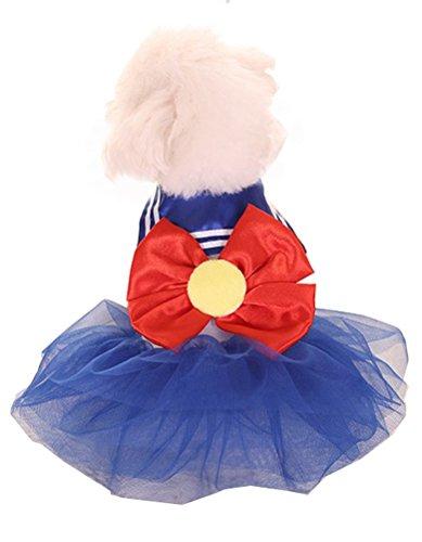 arkind Kleid Marin einheitliche Welpen Hunde Puppy Katze Bowknot Mignon Kostüm Cosplay Kostüm Prinzessin (Sailor Marine Kostüme)