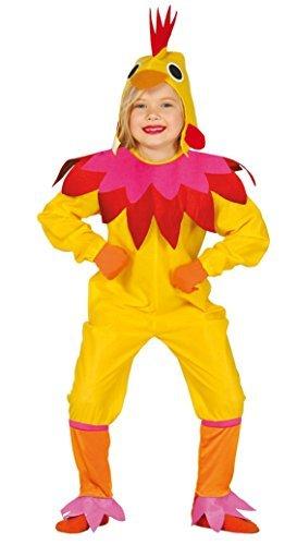 Mädchen Gelb Huhn Chick Junggesellinnenabschied Hof Farm Vogel Ostern Animal Kostüm Kleid Outfit - Gelb, 5-6 Years