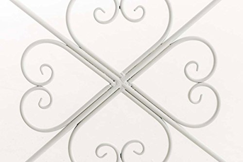 CLP Garten-Bank, 2er Schaukelstuhl SILLY, Eisen lackiert, Design nostalgisch antik, ca 120 x 45, Höhe 95 cm Weiß - 5