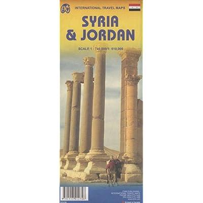 Jordon & Syria [Carte routière]