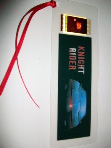 Preisvergleich Produktbild Lesezeichen mit Filmzelle Knight Rider, seltenes Souvenir der Originalserie mit David Hasselhoff
