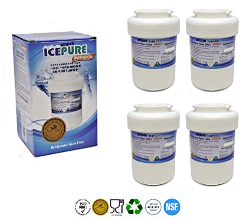 IcePure RFC0600A 4pk Wasserfilter ersetzen Sears, Kenmore, Brita, GE, MWF, Elegant Filter (4er packung)