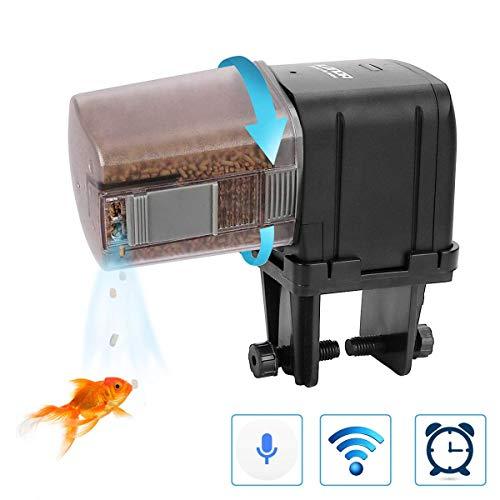 Lychee WIFI Distributeur Automatique de Nourriture pour Poissons ,Contrôle WIFI Réglable Minuteur Alimentateur de Poisson Multifonctionnel Nourrisseur Numérique avec Écran LCD(Manuel Multilingue)