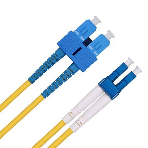 LC zu SC LWL Patchkabel 3m, OS1/OS2 Singlemode Duplex 9/125 Glasfaser Kabel (LSZH) für 10Gb/Gigabit SFP Transceiver, MEHRWEG -