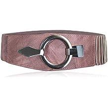 15030e24df63f2 Vanessa & Melissa Breiter Damen Taillengürtel mit silberner Ring-Schließe,  ...