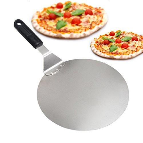 Pizza Peel–Paddel rund Kuchen Schaufel Backen Werkzeuge grip-stainless Stahl-blade-handle Deal für Backen auf Pizza Stein Ofen Grill (Stein Server)