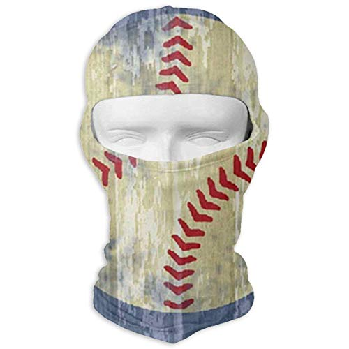 Nifdhkw Balaclava Vintage Baseball Wall Art Full Face Masks Ski Mask Motorcycle Hood For Cycling Sports Hiking - Vintage-baseball-art