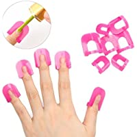 Nicedeal 10pc plaacutestico Nail Art Soak Off tapoacuten clip UV Gel Polish Remover Wrap (Vif rosa) Arte y belleza de uñas