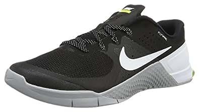 Nike Men's Metcon 2 Black/White Wolf Grey Volt Training Shoe 9. 5 Men US