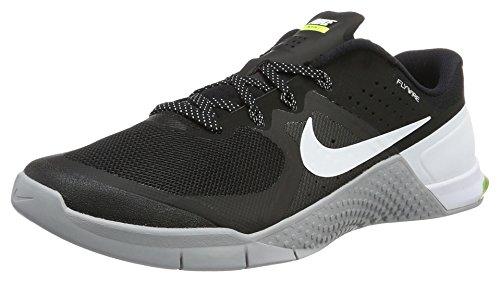 Herren Metcon Nike (Nike 819899-001 Herren Turnschuhe, Schwarz (Black/Wolf Grey/Volt/White), 43 EU)