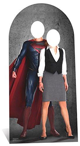 Superman el Hombre de Acero 195cm y Lois Lane suplente Cartón Recortable