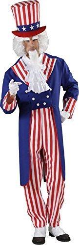 Usa Independence Tag Erwachsene Ausgefallen Party Onkel Sam Style Herren Komplettes (Kind Uncle Sam Kostüm)