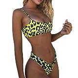 Traje de Baño Sexy Bañador de Baño Push-up Acolchado Bra Conjunto de Bikini 2019 De Estampado de Leopardo Moda Verano Tops y Braguitas 2 Piezas Gusspower