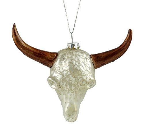 estern Bull Skull Handbemalt Zum Aufhängen Ornament ()