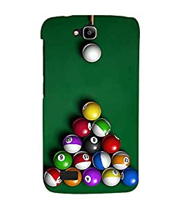 BILLIARD BALLS ARRANGED ON THE TABLE READY TO BE HIT 3D Hard Polycarbonate Designer Back Case Cover for Huawei Honor Holly :: Honor Holly