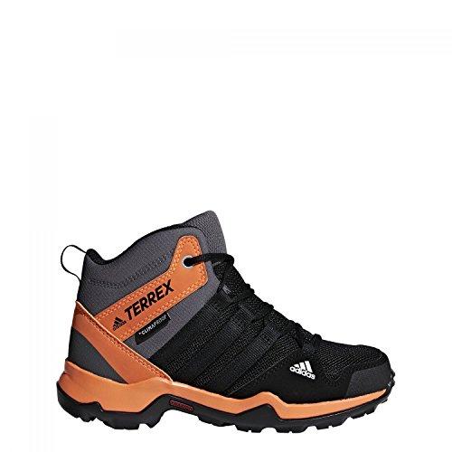 adidas Terrex AC7977 Kinder Jungen Mädchen Terrex AX2R ClimaProof Bootie Wasserdicht, Groesse 31, Schwarz/Orange