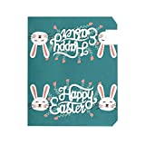 Happy Easter Day Bunny Rabbit Large Magnetic Mailbox Cover Home Garden Decor 2 Dimensioni