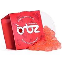 Esferas moleculares Orbz - Esferas Moleculares de fresa para bebidas - Esferas de jugo