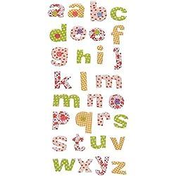 30 tlg. Set Sticker / Aufkleber - Alphabet Buchstaben - für Schulanfang Deko Schultüte Schulbeginn Schule ABC