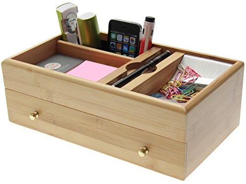Organiser per scrivania, realizzato in bambù