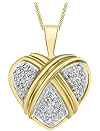Carissima Gold Collier Femme - Or jaune 375/1000 (9 cts) 2.33 gr - Diamant