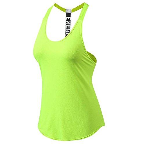 SANKE Vêtements de Sport Pour Femmes Running Running Yoga Racerback Débardeurs Vert