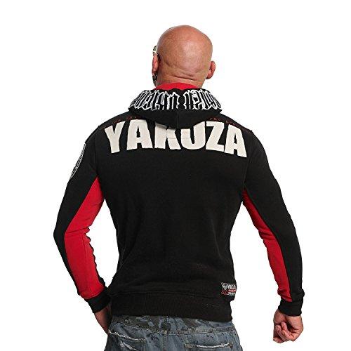 Yakuza Original Herren Chockin Victim Hoodie Kapuzenpullover Schwarz