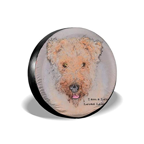Lakeland Hat (Bag hat Dogs Lakeland Terrier Happy Cute Tire Cover Polyester Universal Spare Wheel Tire Cover Wheel Covers Jeep Trailer RV SUV Truck Camper Travel Trailer Accessories 17 inch)