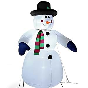 Jago Pupazzo di neve gonfiabile luminoso altezza 245 cm