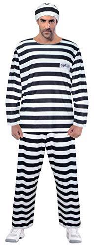 Brandsseller Herren Sträfling Kostüm Verkleidung - Sträfling-Design - - Sträfling Kostüm Herren