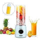 HS Onsing Licuadora Portátil,Batidora de Vaso Individual USB Recargable,Mezclador de Frutas-Adecuado para Frutas y Verduras,para Hacer Jugos de Frutas/Batidos/Milkshake/Smoothies Etc