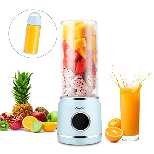 41iZKNO0r1L. SS500  - Mini Portable Blender, USB Juicer Mixer with 6 Stainless Steel Blades & Power Bank Function for Traveling Spots Home Office and Outdoor, Perfect for Fruit Milk and Baby Foods