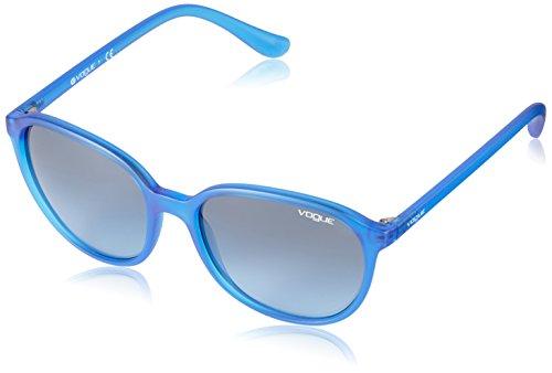 Vogue Eyewear Damen 0VO2939S 22818F 55 Sonnenbrille, Blau (Transparent Electric Blue/Blueegradient)