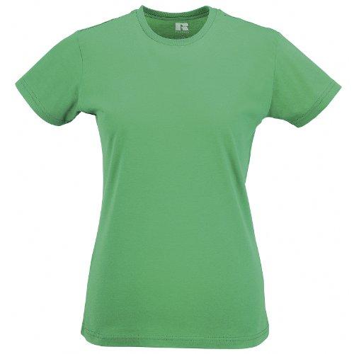 Russell - Maglietta Manica Corta 100% Cotone - Donna Verde mela