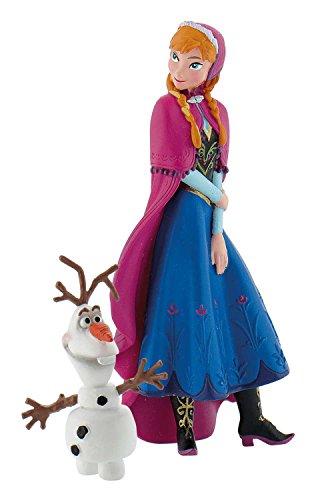 Bullyland 12090 - Walt Disney Die Eiskönigin, Spielfigurenset, Anna und Olaf -
