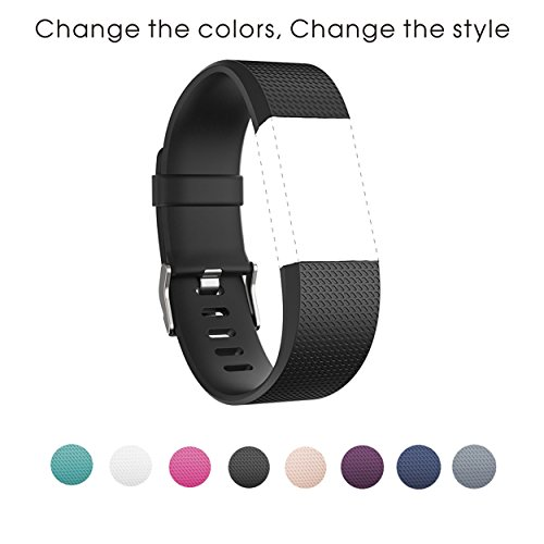 sunface-bands-for-fitbit-charge-2-heart-rate-black-classic-fitness-wristband-replacement-accessories
