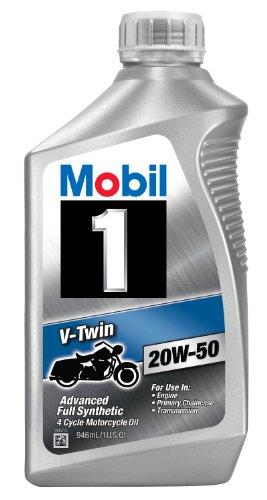 Preisvergleich Produktbild Mobil 1 96936 20W-50 V-Twin Synthetic Motocycle Motor Oil - 1 Quart (Pack of 6) by Mobil 1