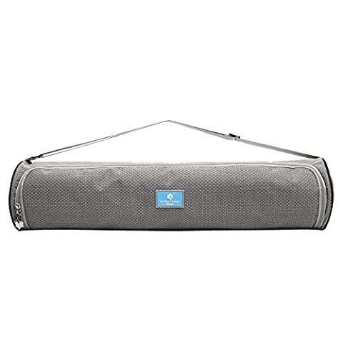 Eshow Nylon Waterproof Yoga Backpack Durable Organic Yoga Mat Bag Yoga Tote Bag Grey