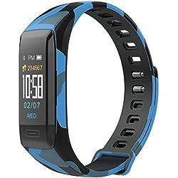 Impermeable Reloj Inteligente Deportivo Pantalla A Color Podómetro Fitness Tracker Pulsómetro Análisis De Sueño Cámara Bluetooth Smartwatch Compatible Android iOS para Hombre Mujer Niño Niña