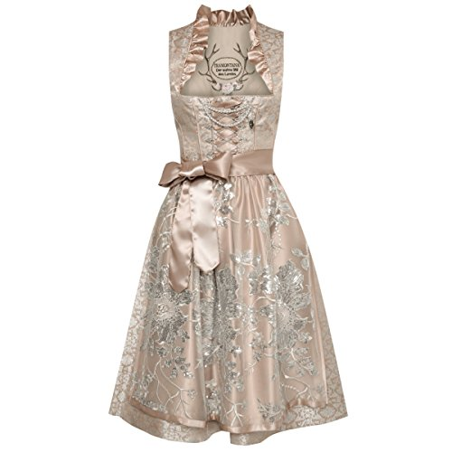 Tramontana Damen Trachten-Mode Midi Dirndl Karen in Gold traditionell