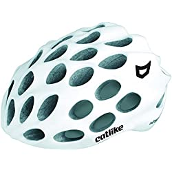 Catlike Whisper Casco Ciclismo, Unisex Adulto, Blanco Brillo, MD (56-58 cm)
