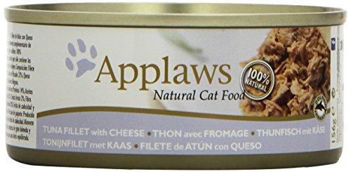 Applaws Katze Dose Thunfischfilets und Käse, 24er Pack (24 x 156 g)