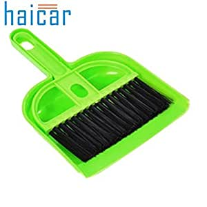 Generic Green : Haicar Mini Desktop Sweep Cleaning Brush Small Broom Dustpan Set IT6531
